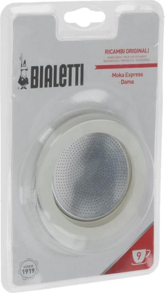Bialetti 3 Dichtungen & 1 Filter für Espressokanne 0800005